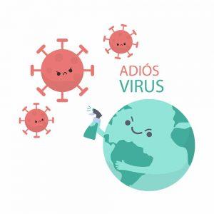 Camiseta Adiós Virus - Coronavirus