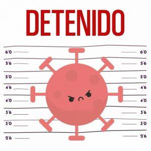 Camiseta Coronavirus Detenido
