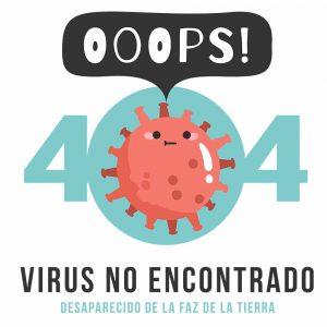 Camiseta error 404 Coronavirus no encontrado