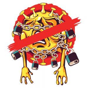 Camiseta Coronavirus encadenado