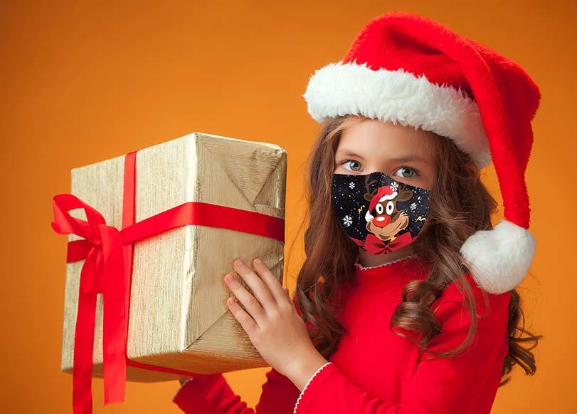Mascarilla Navidad para niños
