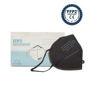20 mascarillas FFP2 negra homologada