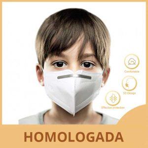 Mascarilla para niños homologada y certificada
